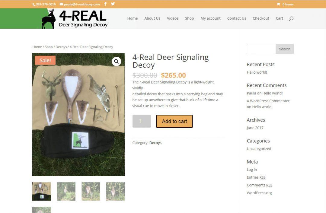 4-Real Deer Decoy