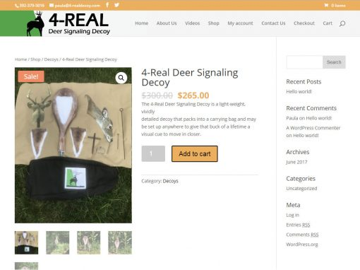 4-Real Deer Decoy