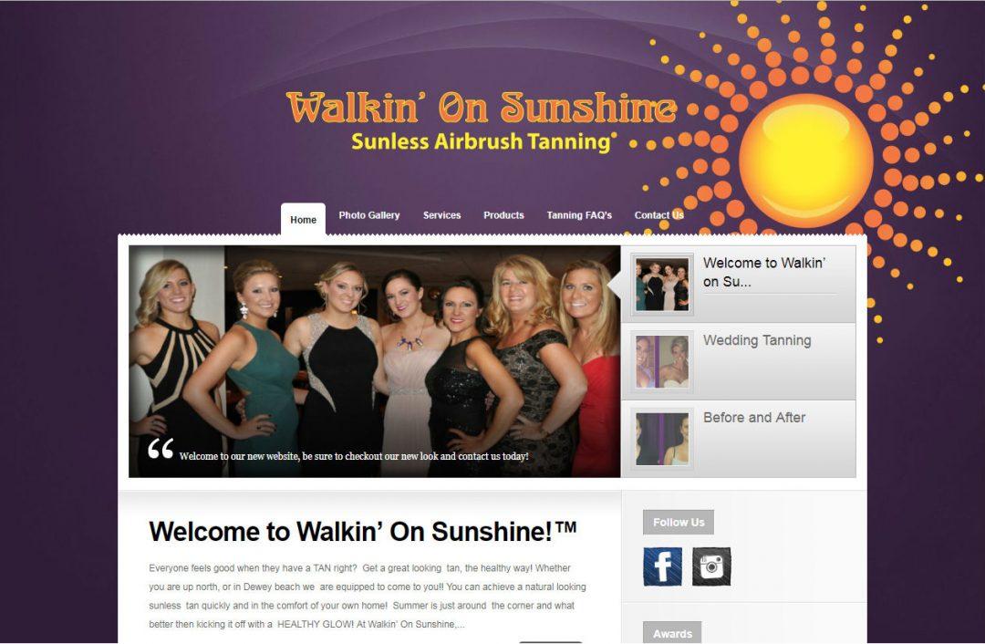 Walking On Sunshine Sunless Tanning