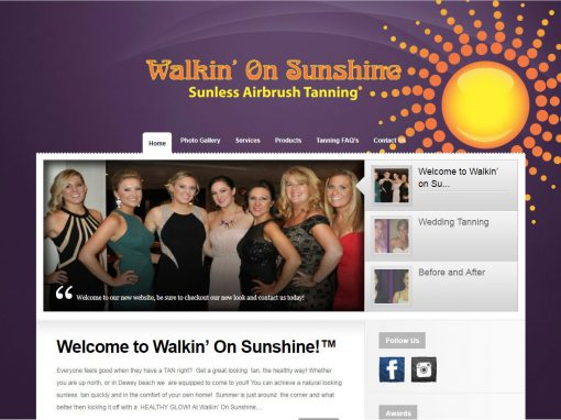 Walking On Sunshine Sunless Tanning